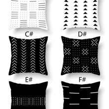 1 Stueck Kissenbezug mit geometrischem Muster ohne Fuellstoff