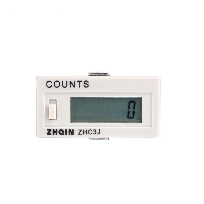 DHC3J-6 220V LCD Display Electronic Counter Power Off Automatic Accumulator Counter Meter