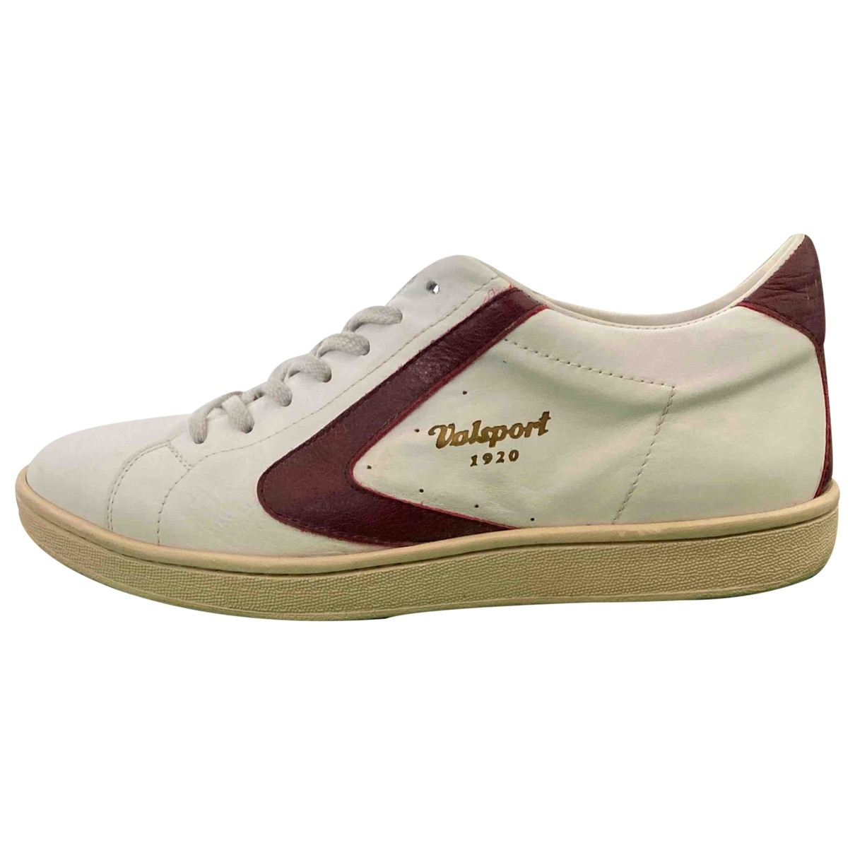 Non Signé / Unsigned \N White Leather Trainers for Men 44 EU