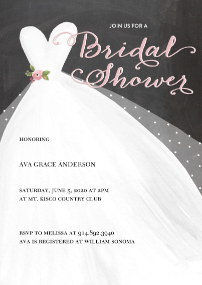 Wedding Shower Invitations 5x7 Cards, Premium Cardstock 120lb with Elegant Corners, Card & Stationery -Bridal Shower Dotted Veil by Tumbalina