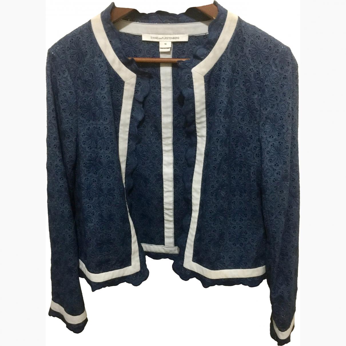 Diane Von Furstenberg \N Blue Cotton jacket for Women 10 US