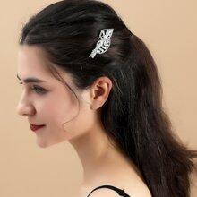 Haarklammer mit Strass und Blatt Dekor