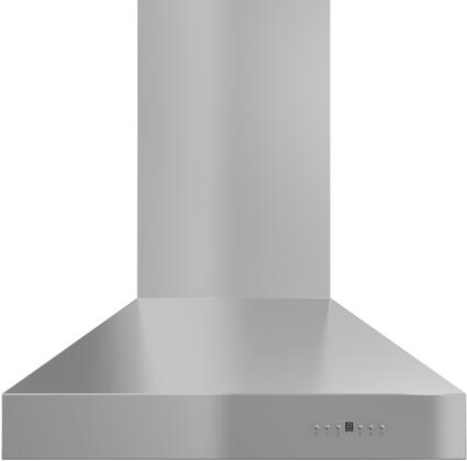 ZL697-304-54 54 Wall Mounted Outdoor Range Hood with 1200 CFM Motor  4 Speed Levels  4 Directional Lights and Control Panel with LCD in Brushed