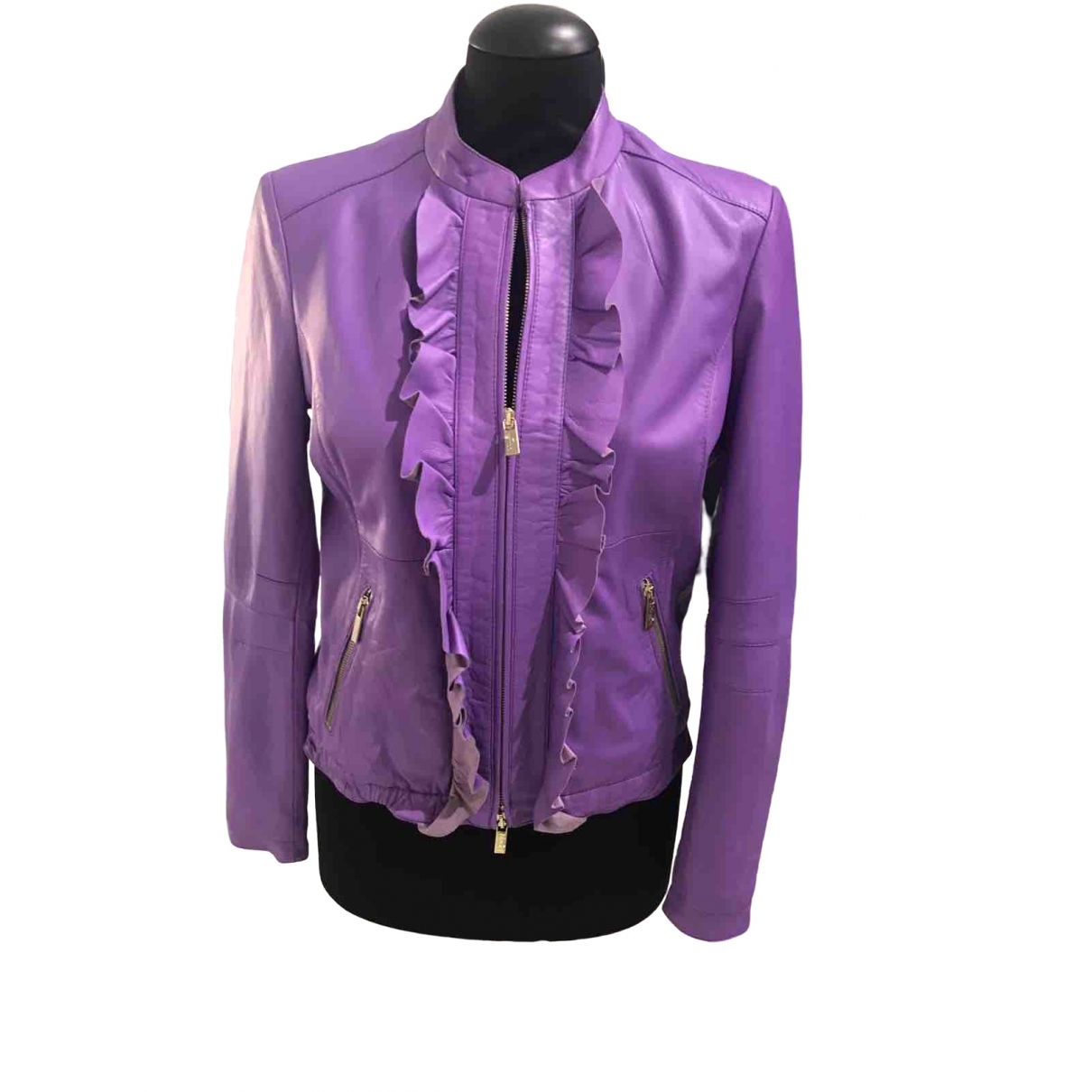 Blumarine \N Purple Leather jacket for Women 40 IT