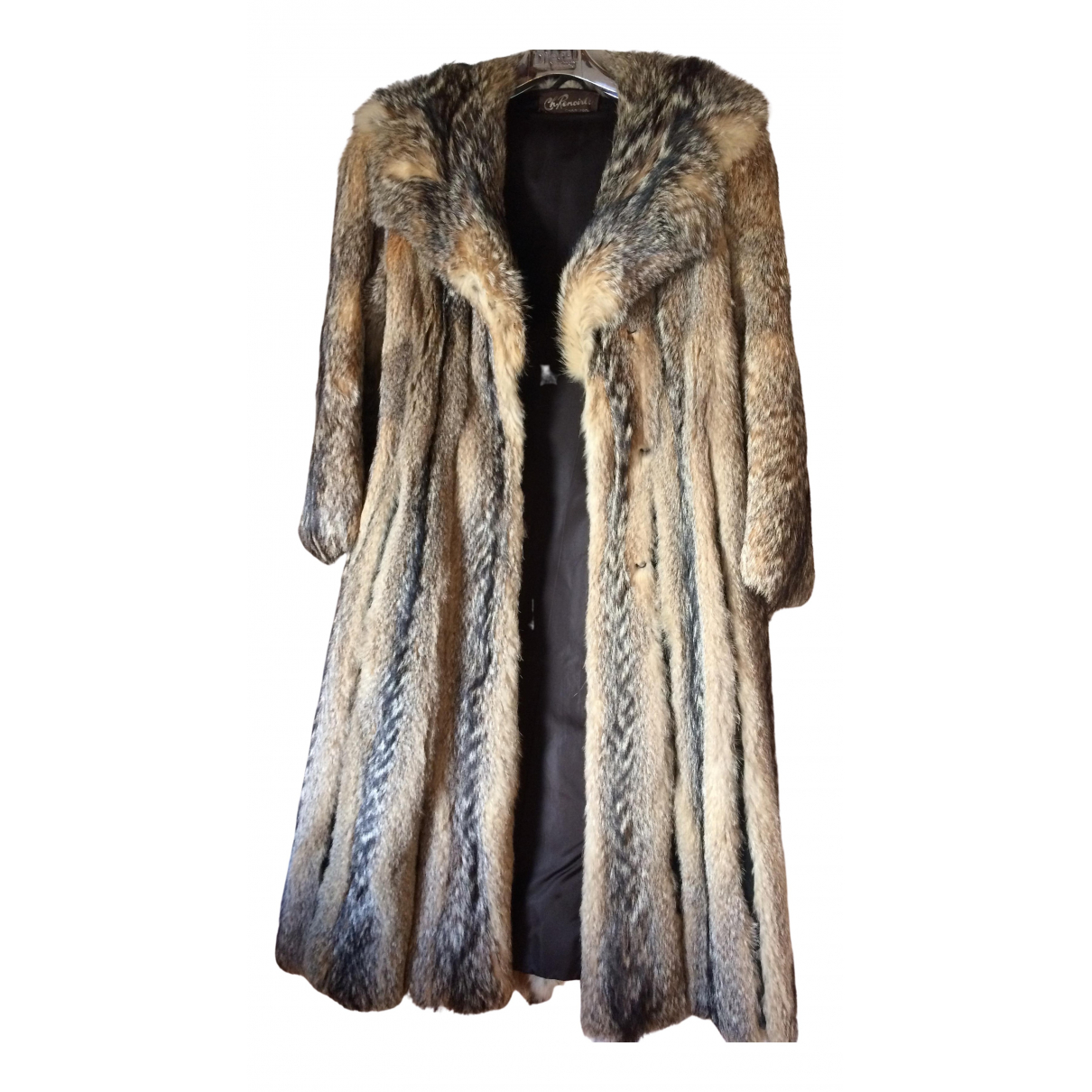 Non Signé / Unsigned N Grey Fox coat for Women 38 FR