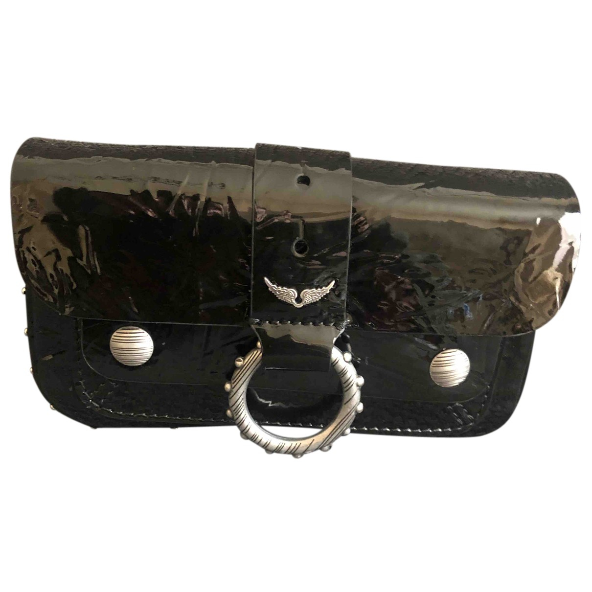 Zadig & Voltaire N Black Leather Clutch bag for Women N