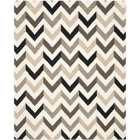 Safavieh Adella Chevron Hand-Tufted Wool Rug, One Size , Black