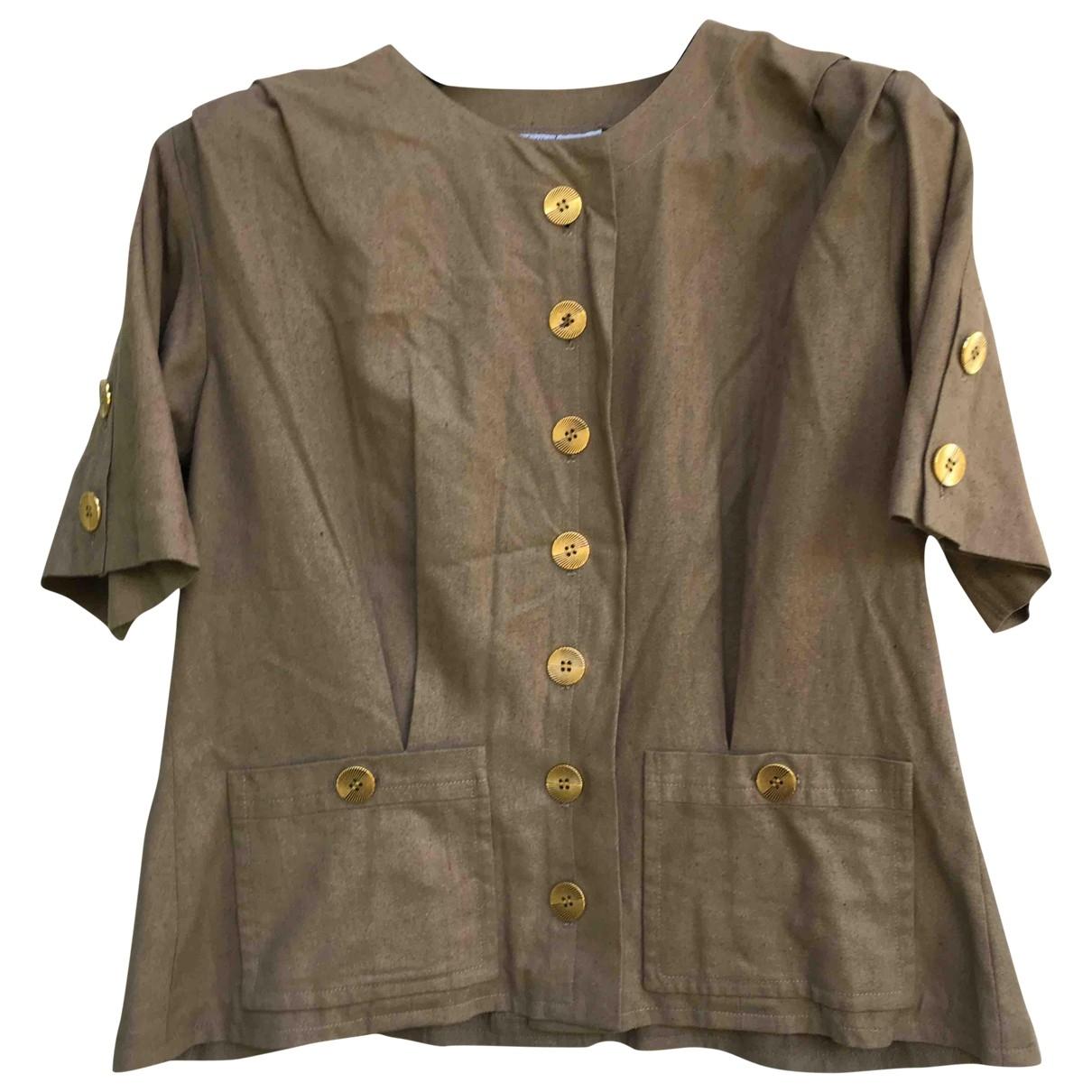 Yves Saint Laurent \N Khaki Cotton jacket for Women 40 FR