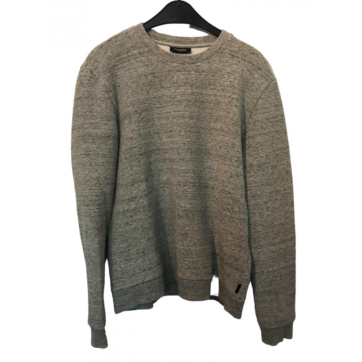 Calvin Klein \N Pullover.Westen.Sweatshirts  in  Grau Synthetik
