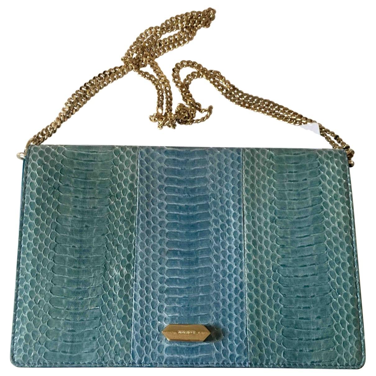 Nina Ricci \N Blue Lizard handbag for Women \N