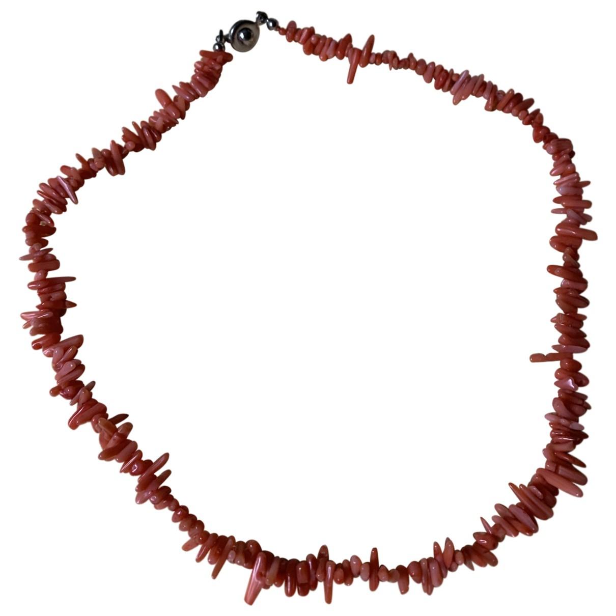 - Collier Corail pour femme en perles