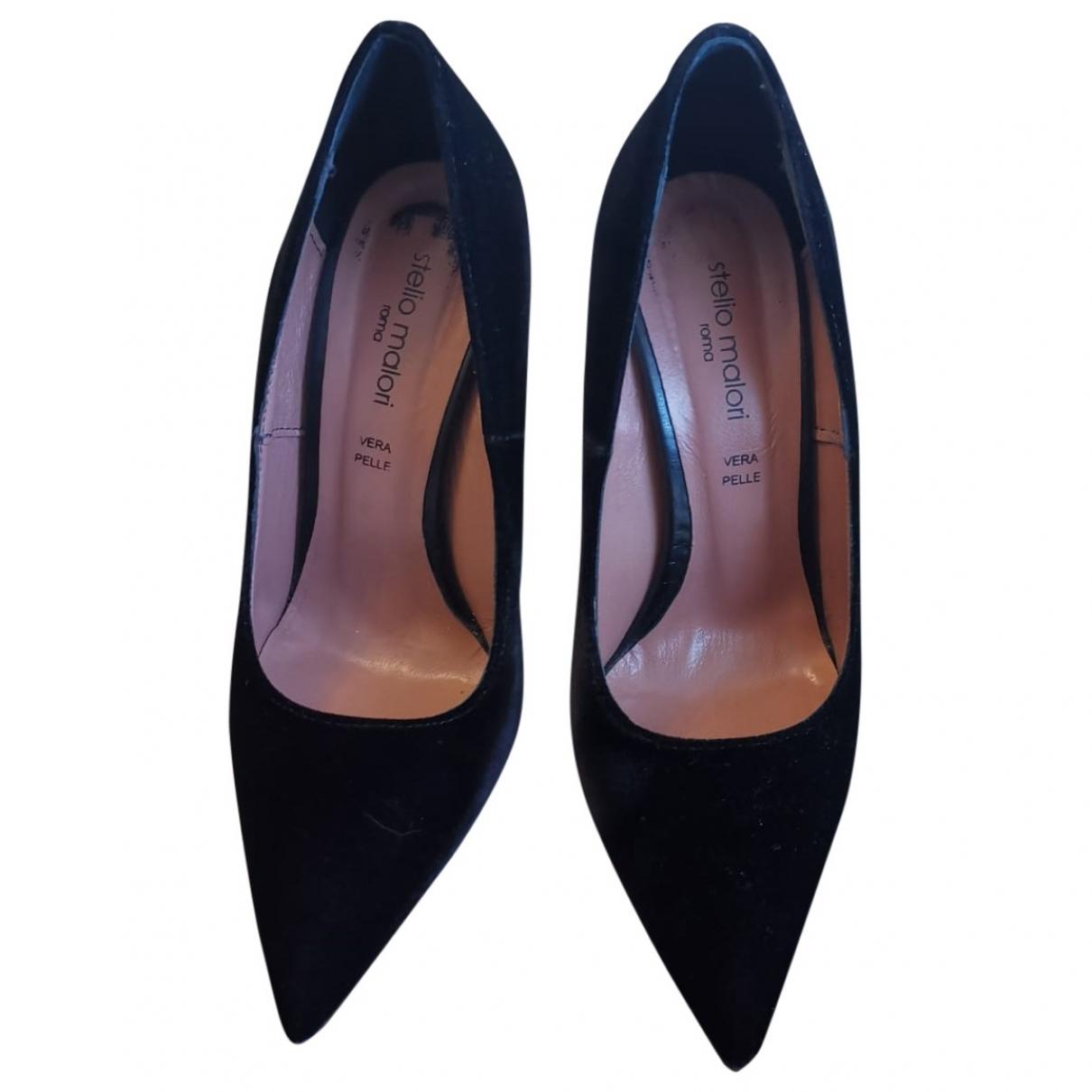 Non Signé / Unsigned \N Black Velvet Heels for Women 37 IT