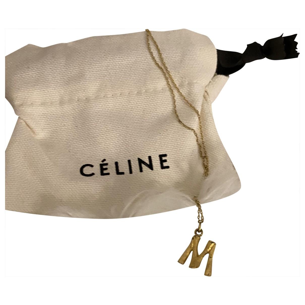 Celine Alphabet Gold Gold plated necklace for Women \N