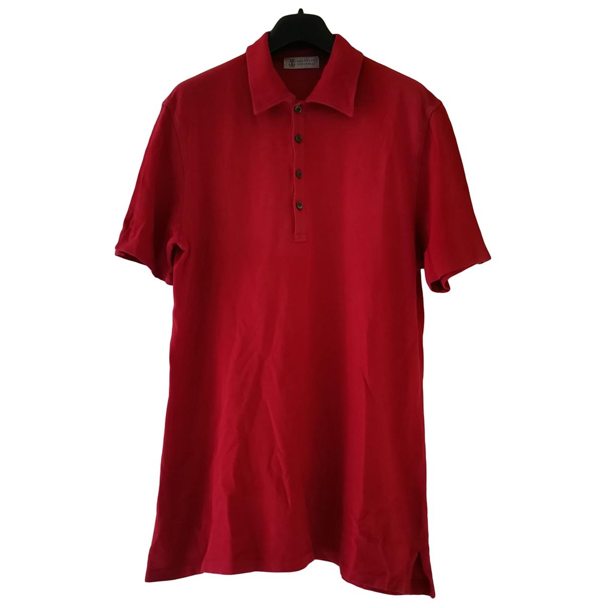 Brunello Cucinelli - Polos   pour homme en coton - rouge