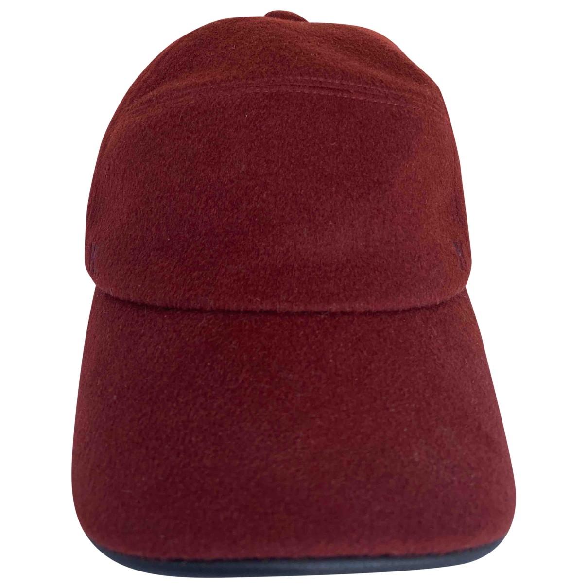 Hermes - Chapeau & Bonnets   pour homme en cachemire - bordeaux
