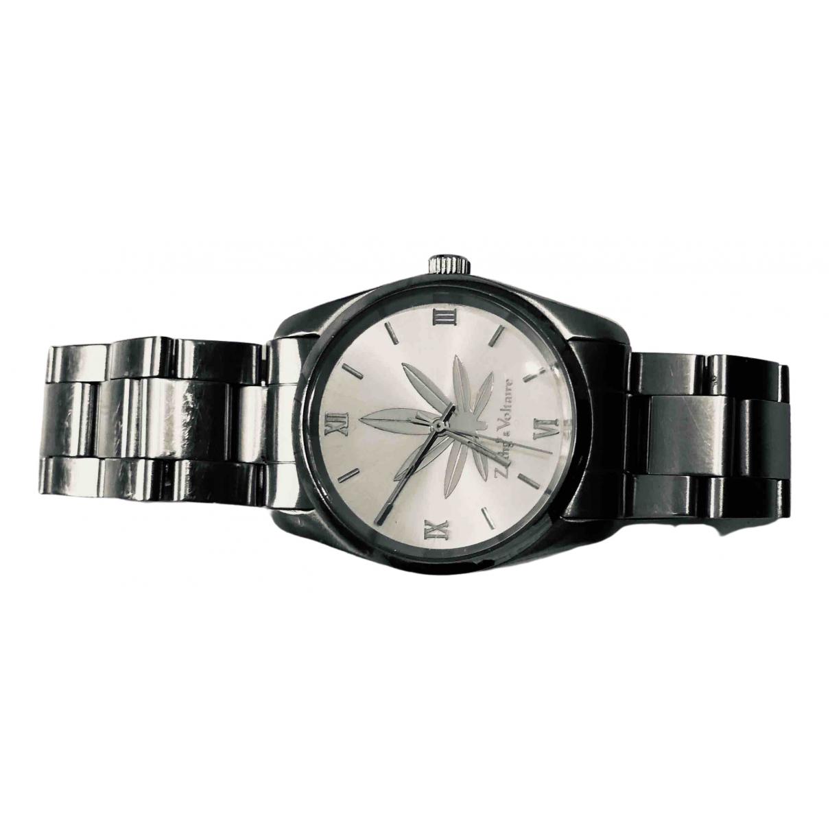 Zadig & Voltaire \N Uhr in  Silber Stahl