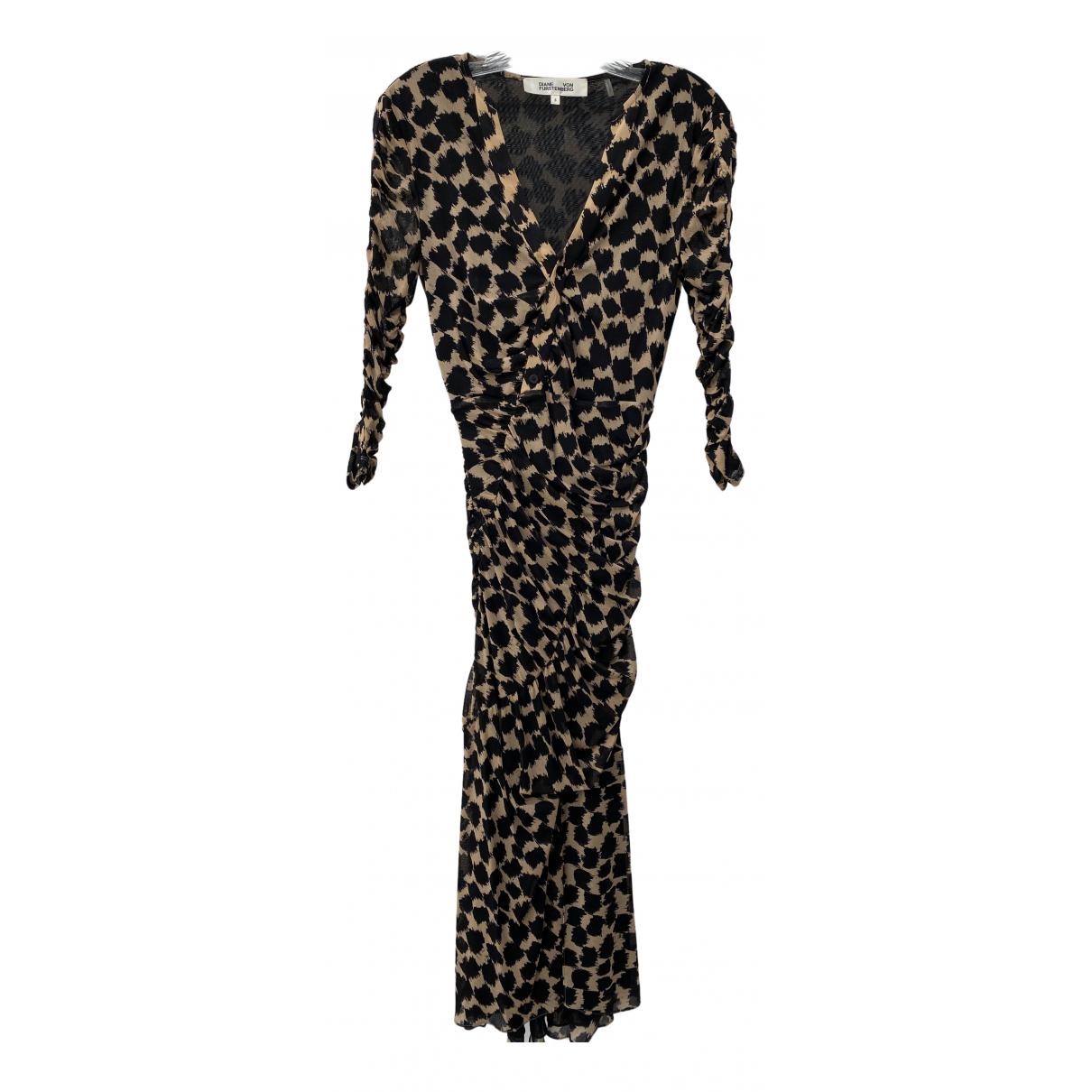Diane Von Furstenberg \N Black Silk dress for Women S International
