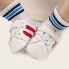 Baby Boy Contrast Mesh Velcro Strap Sneakers