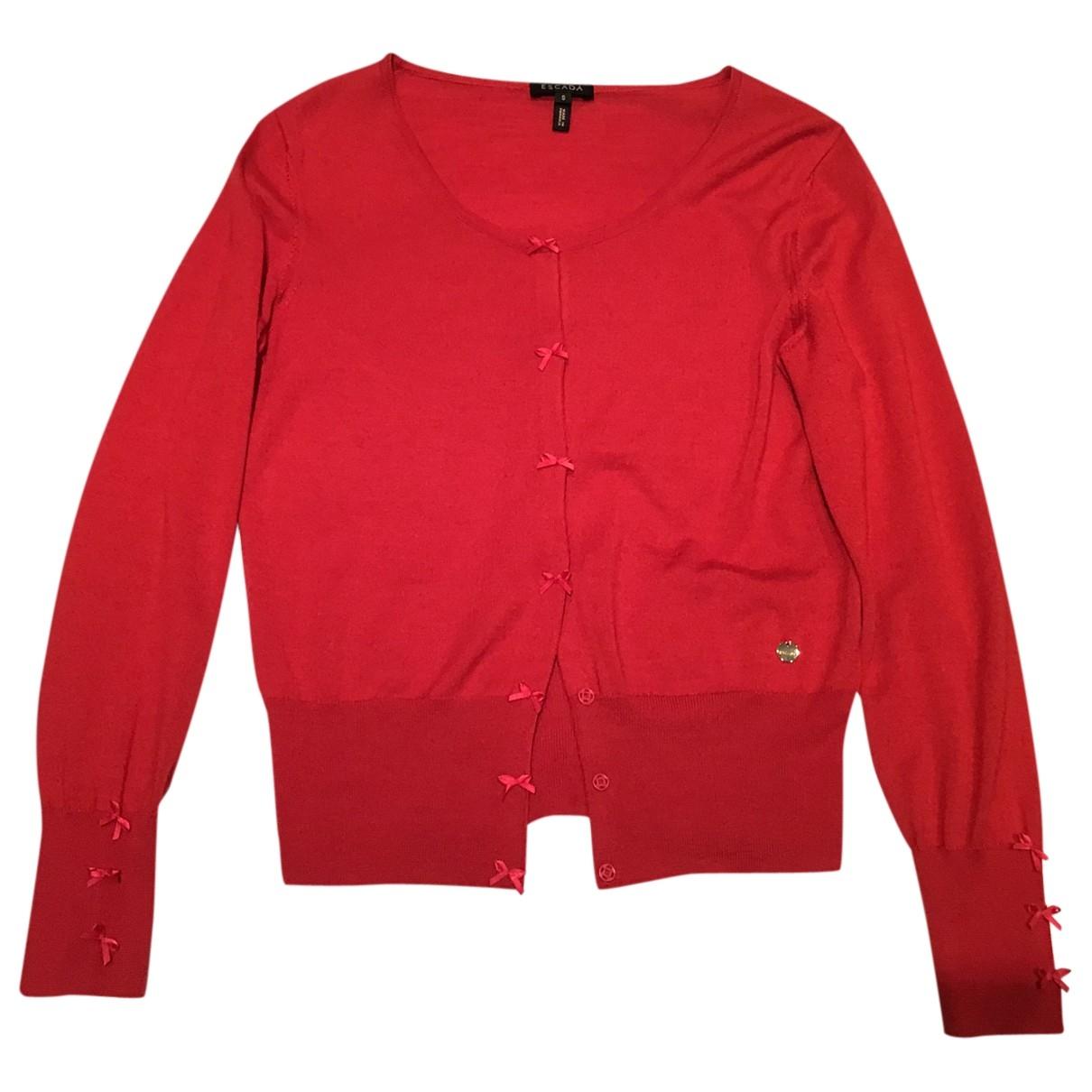Escada - Pull   pour femme en laine - rouge