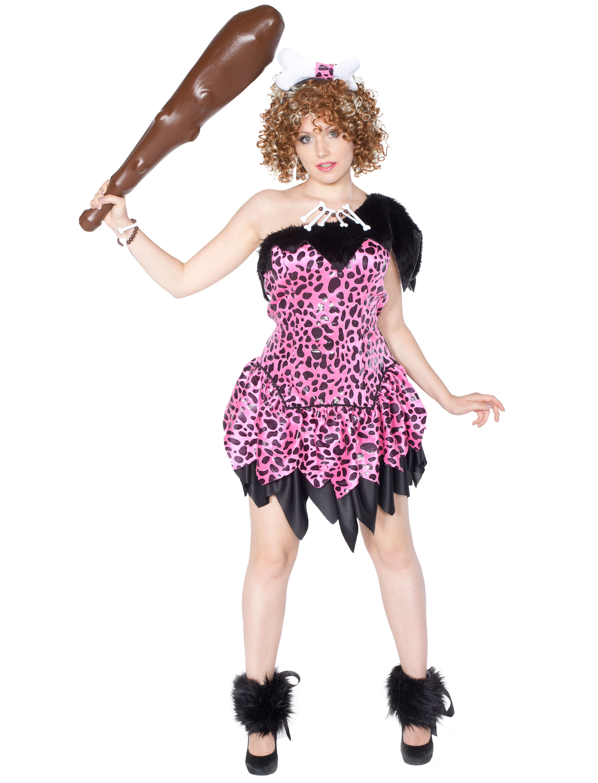Damen-Kostuem Hohlenfrau schwarz/pink Grosse: 42