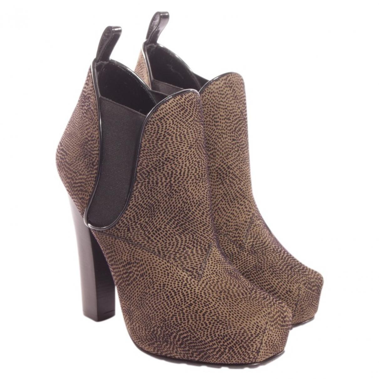 Proenza Schouler - Boots   pour femme en suede - vert