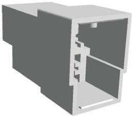 TE Connectivity AMP FASTIN-FASTON Series, 3 Way Nylon 66 Crimp Terminal Housing, 6.35mm Tab Size, Natural (100)