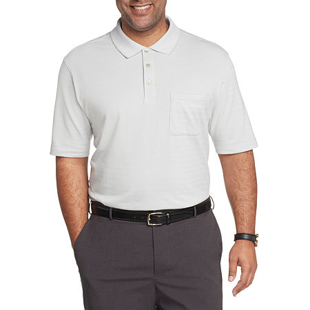 Van Heusen Mens Flex Striped Short Sleeve Polo Shirt - Big and Tall, 4x-large Tall , Gray