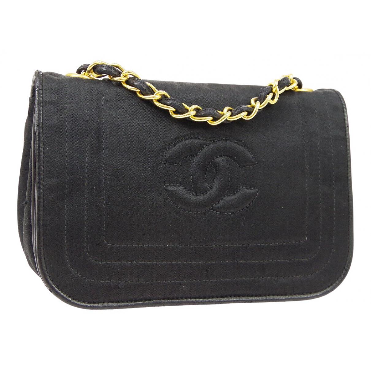 Chanel \N Handtasche in  Schwarz Leinen
