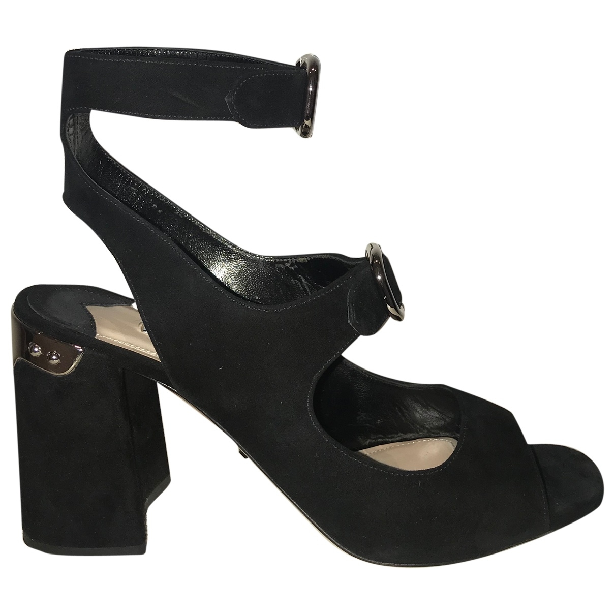 Prada \N Black Suede Sandals for Women 38.5 EU