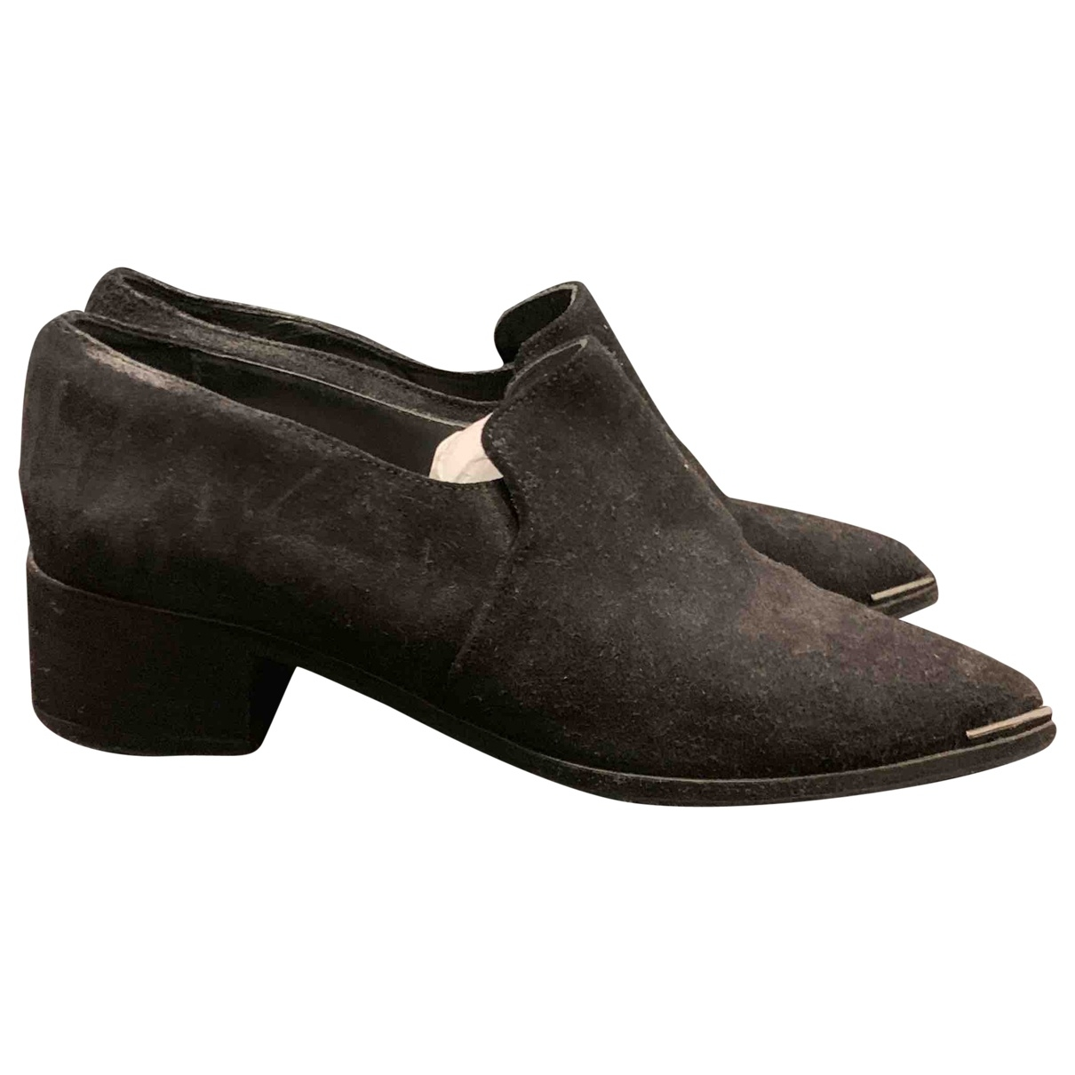 Acne Studios \N Black Suede Flats for Women 37 EU