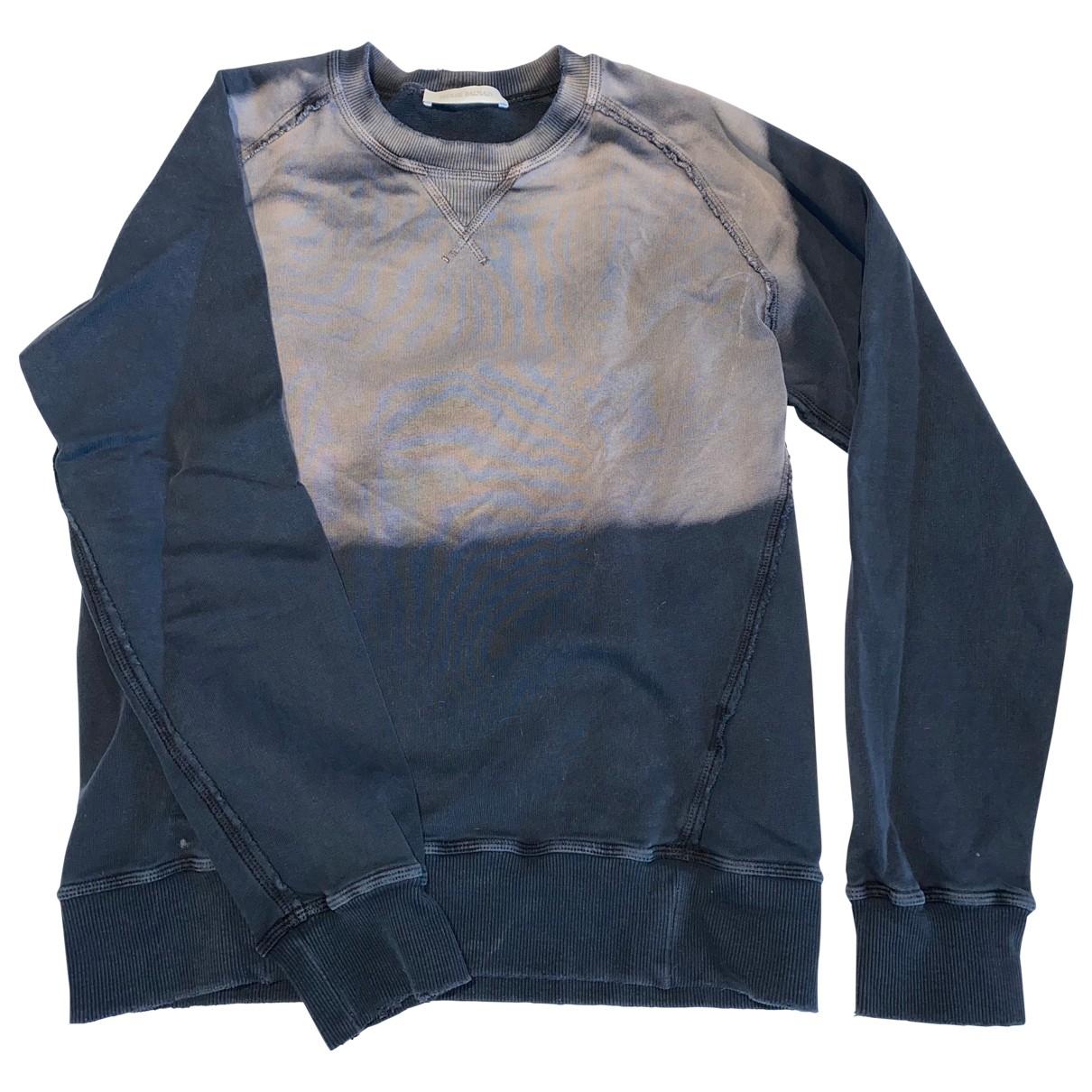Balmain - Pulls.Gilets.Sweats   pour homme en coton - bleu