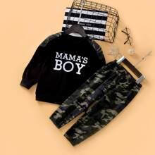 Buchstaben  Laessig Kleinkind Jungen zweiteilige Outfits