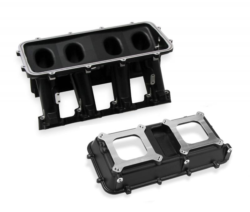 Holley 300-113BK LS3 HI-RAM, INTAKE MANIFOLD CARB, 2 X 4150 - BLACK Upper