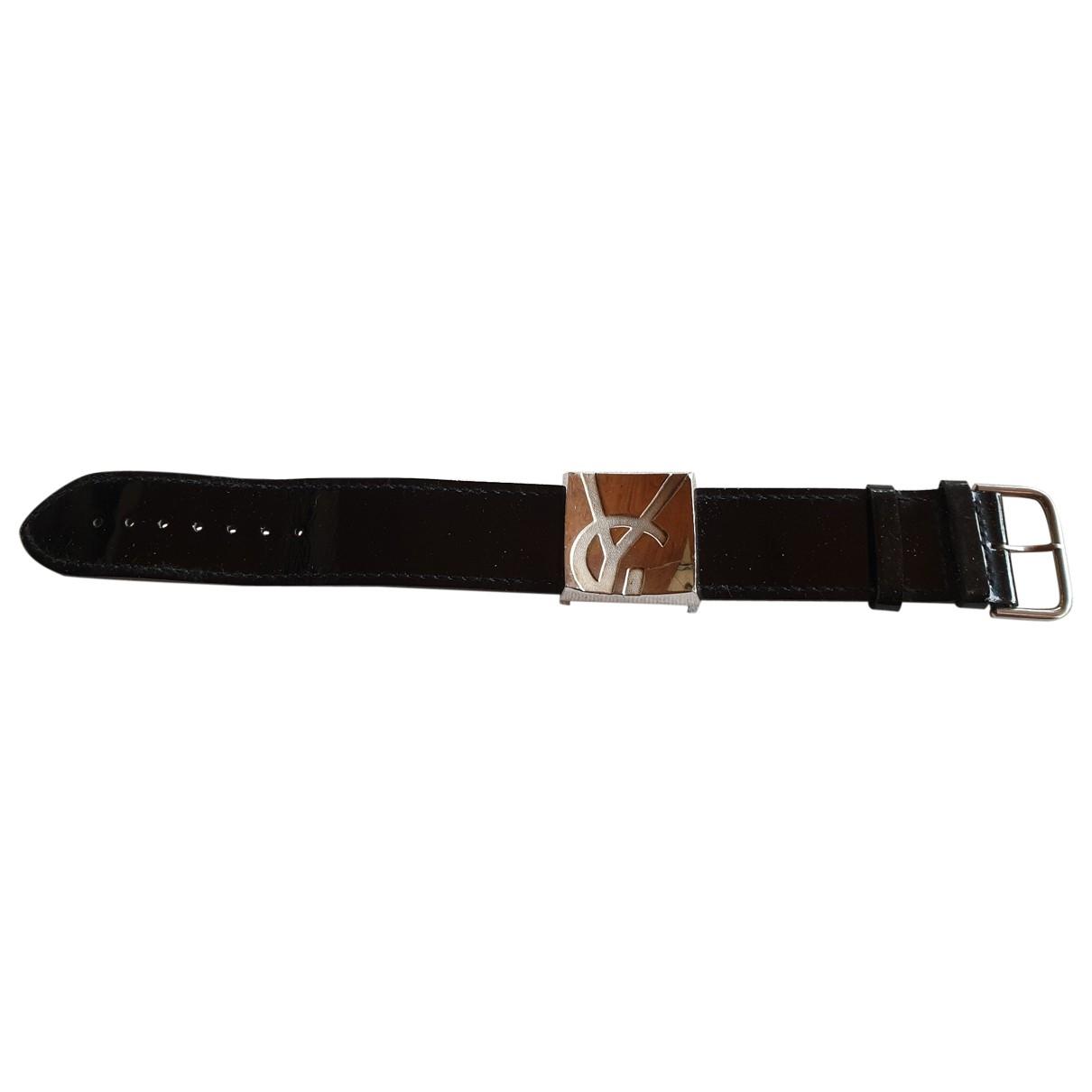 Yves Saint Laurent - Bracelet   pour femme en argent - noir