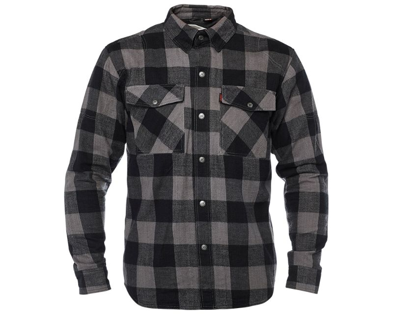 Speed and Strength 885082 Dropout Armored Flannel Black Gray Checkered 3XL