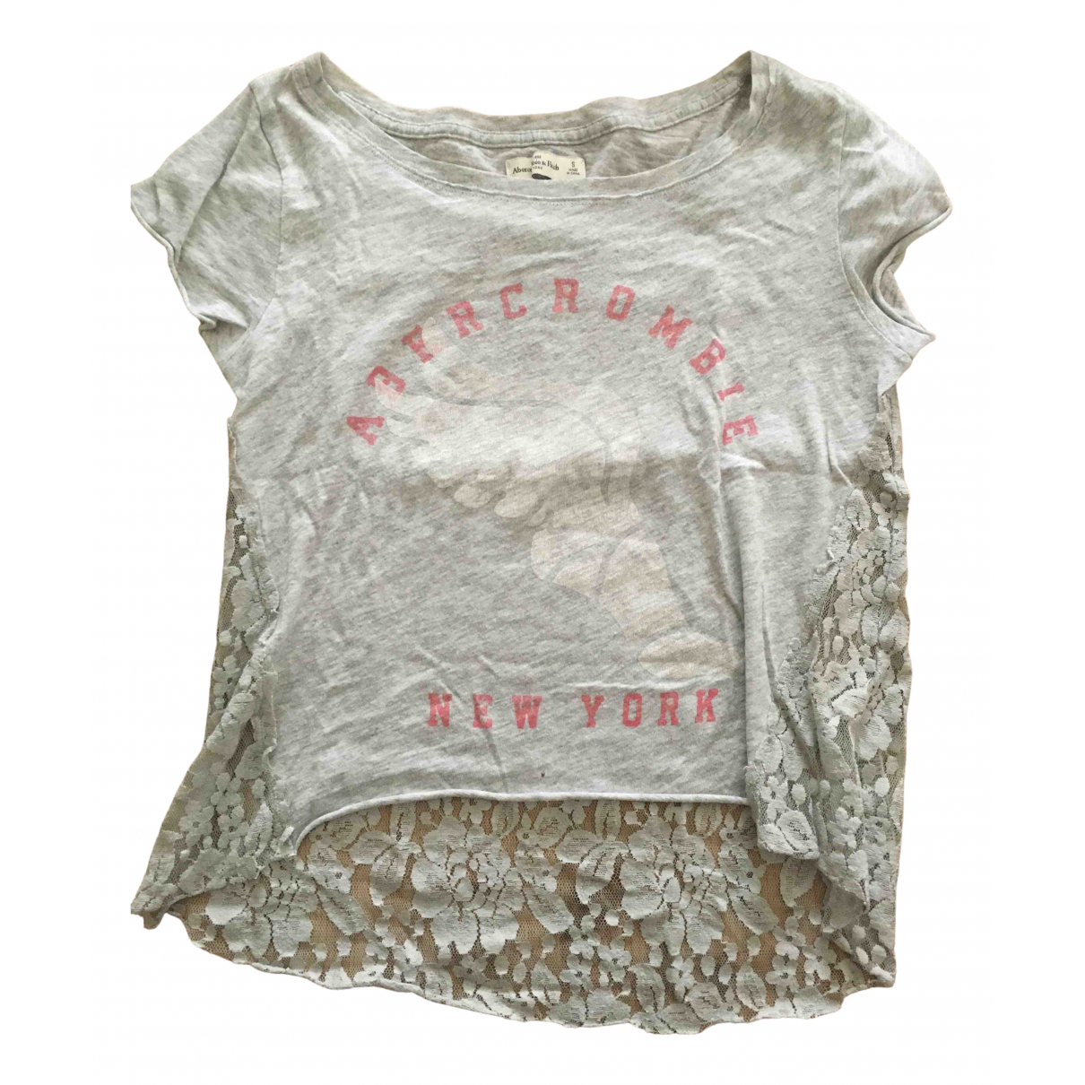 Abercrombie & Fitch N Grey Cotton  top for Women 36 FR