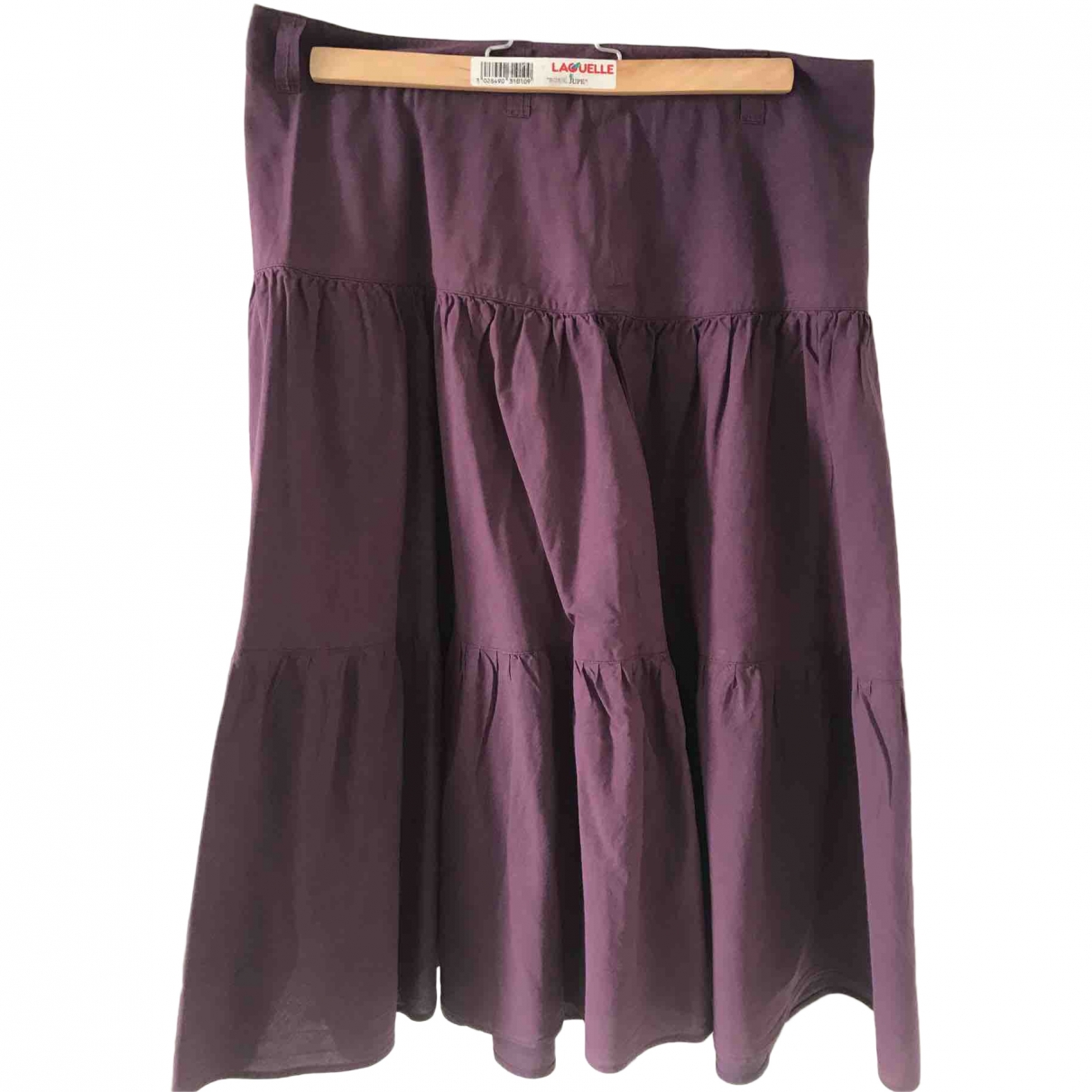 Agnès B. \N Purple Cotton skirt for Women 38 FR