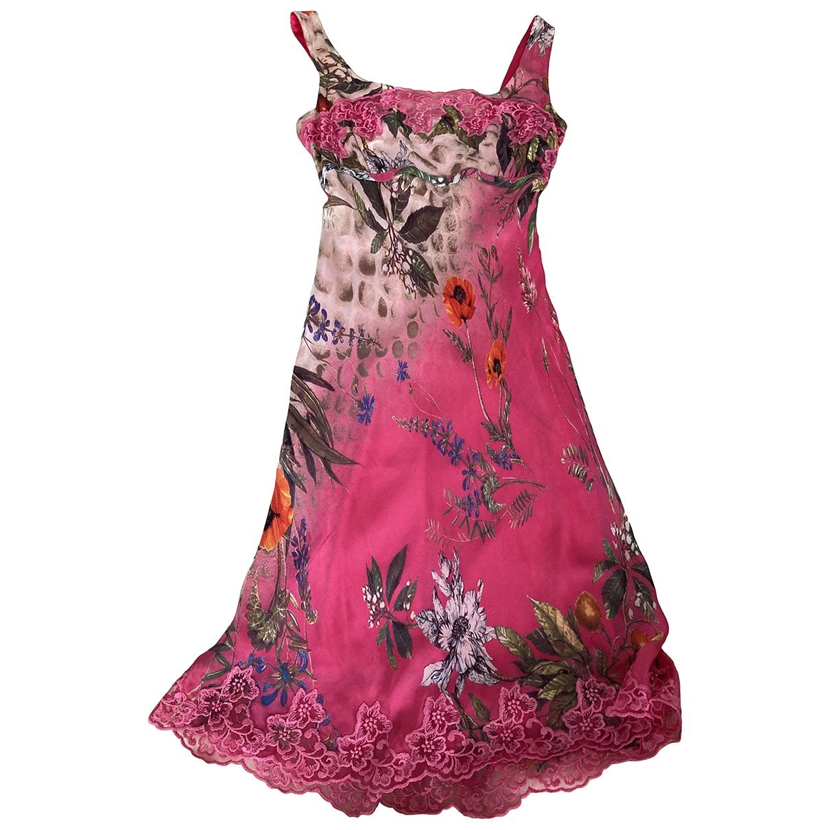 Class Cavalli \N Multicolour Silk dress for Women 38 IT