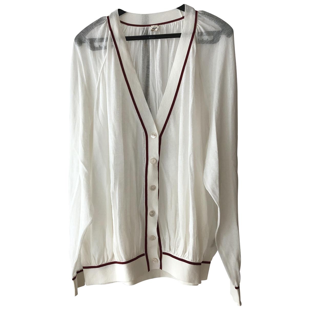 Hermes - Pull   pour femme en coton - blanc