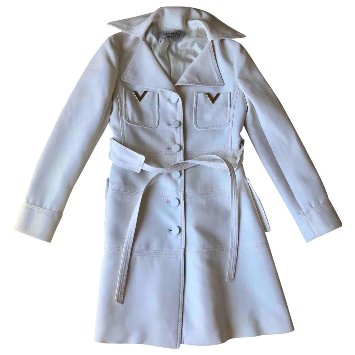 Valentino Garavani - Manteau   pour femme en laine - blanc