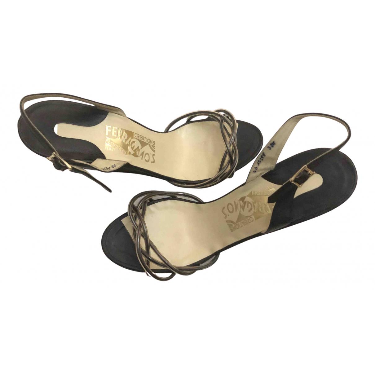 Sandalias romanas de Cuero Salvatore Ferragamo