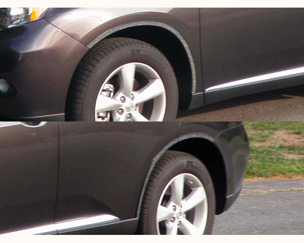 Quality Automotive Accessories 6-Piece Stainless Steel Wheel Well Fender Trim Kit Lexus RX Series 2012