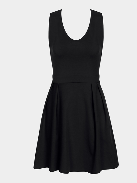 Yoins Black Sexy Chiffon Cami Mini Dress with Bow-knot Fastening