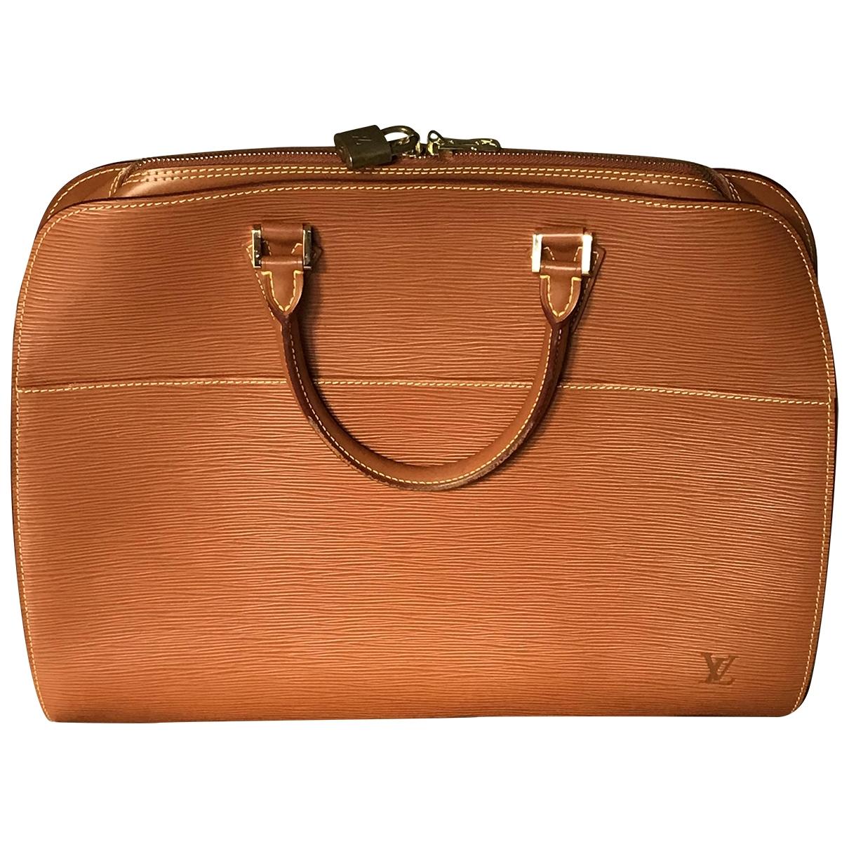 Louis Vuitton Sorbonne Vintage Handtasche in  Kamel Leder