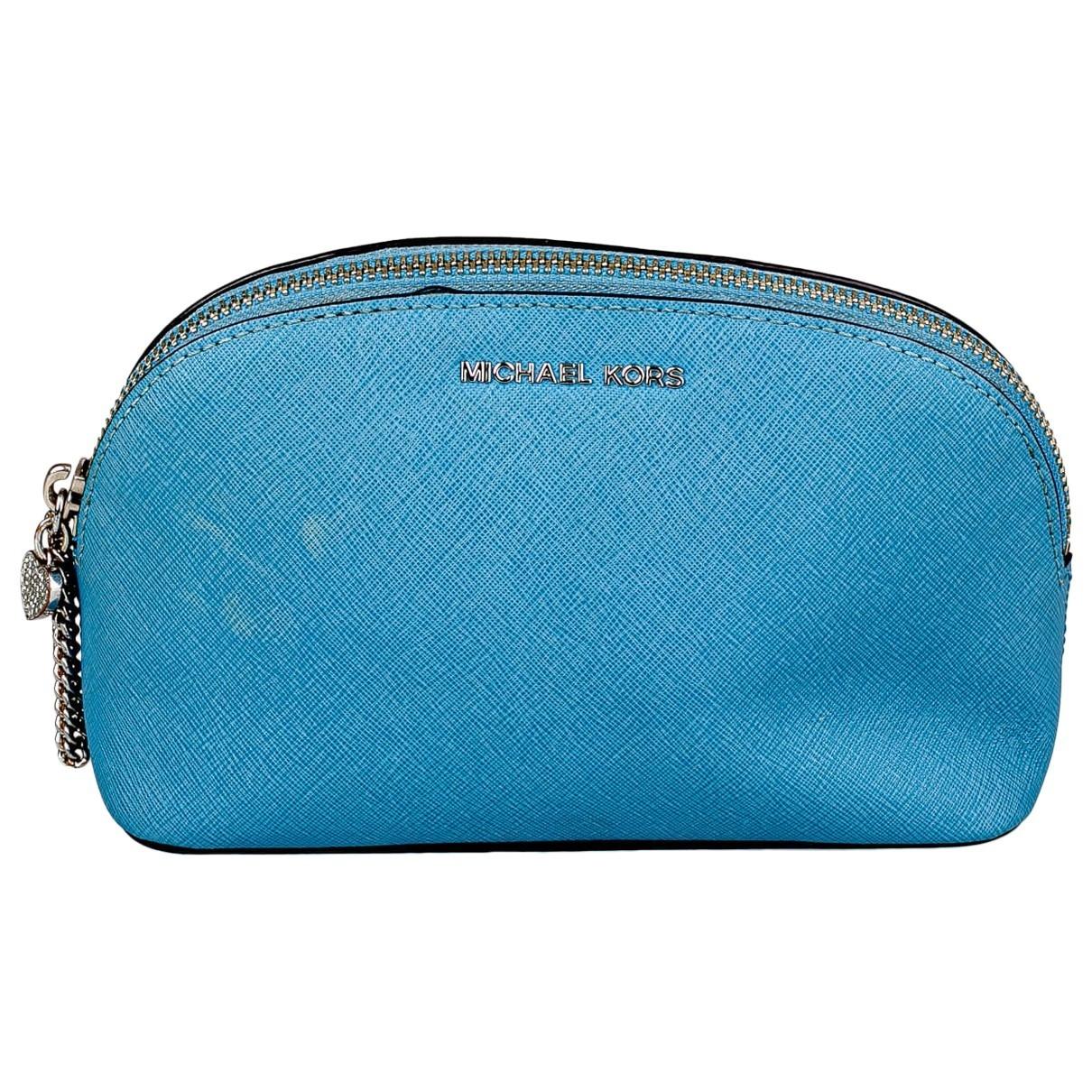 Michael Kors - Pochette   pour femme en cuir - turquoise
