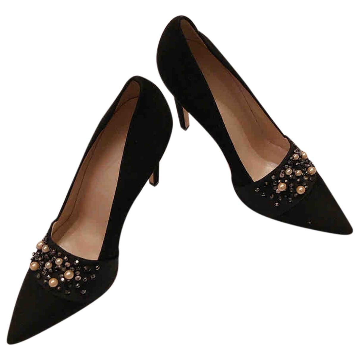 Club Monaco \N Black Leather Heels for Women 38 EU
