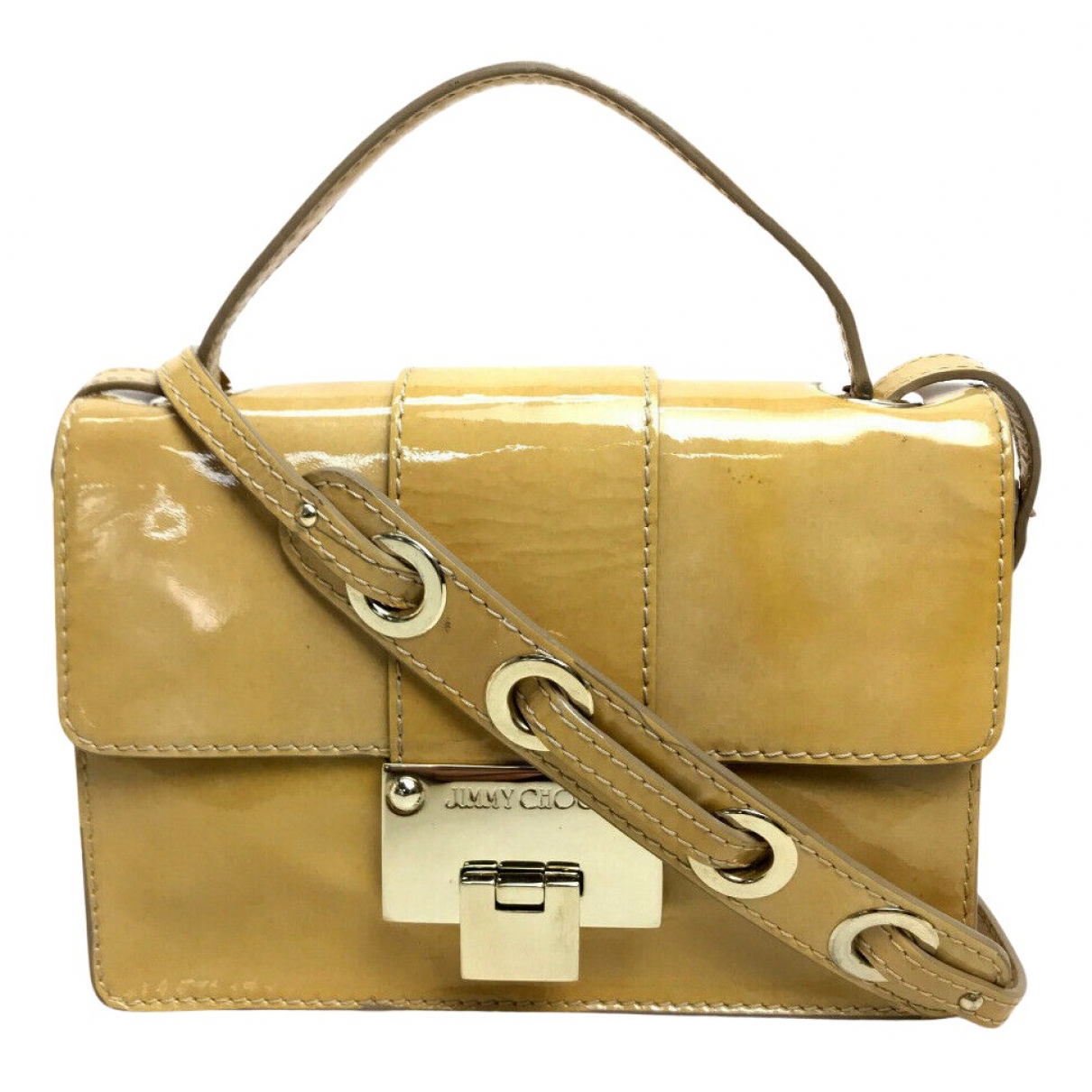 Jimmy Choo \N Handtasche in  Beige Lackleder