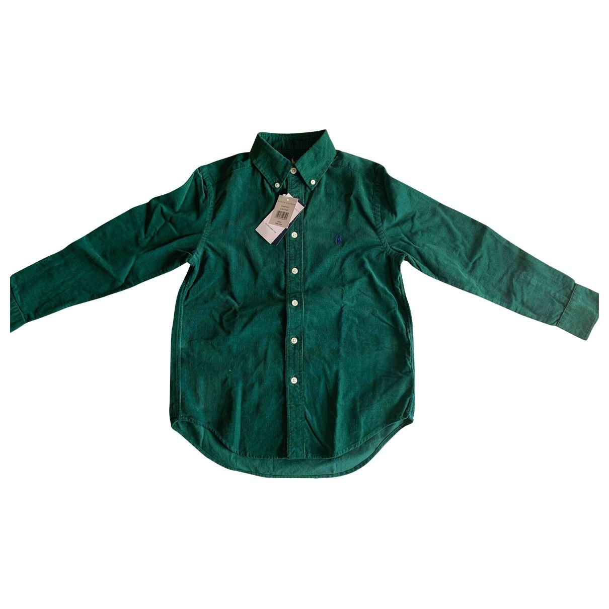 Ralph Lauren - Top   pour enfant en velours - vert