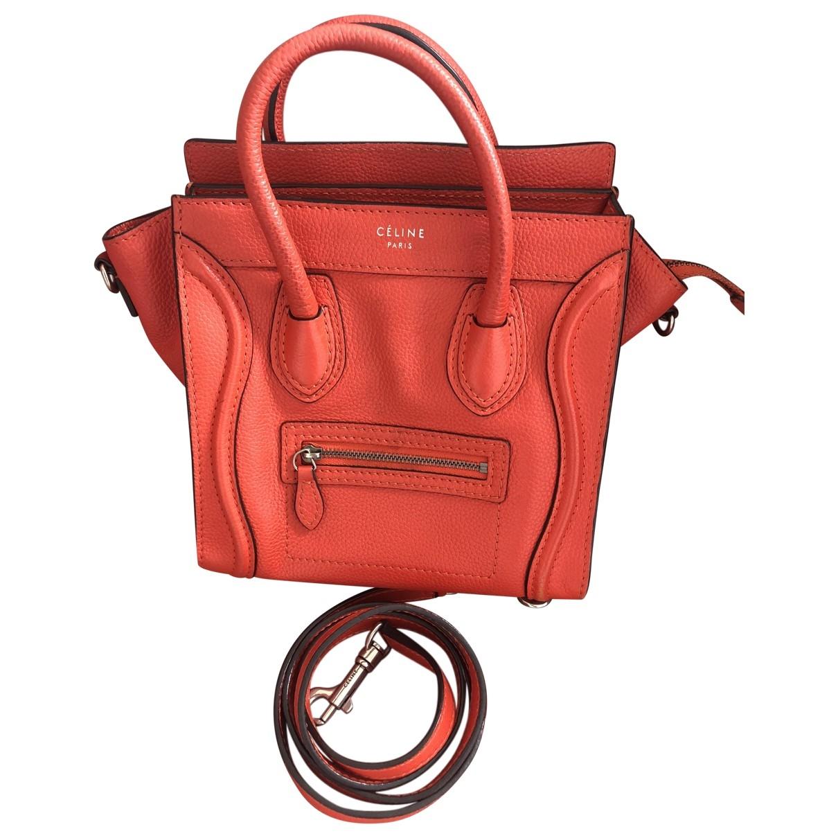 Celine Luggage Orange Leather handbag for Women \N
