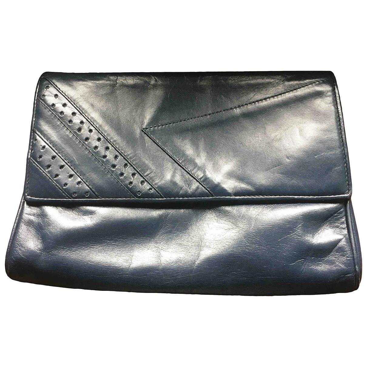 Non Signe / Unsigned \N Handtasche in  Blau Leder